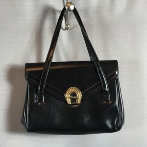 Vintage 50s 60s Black Shoulder Bag Purse
